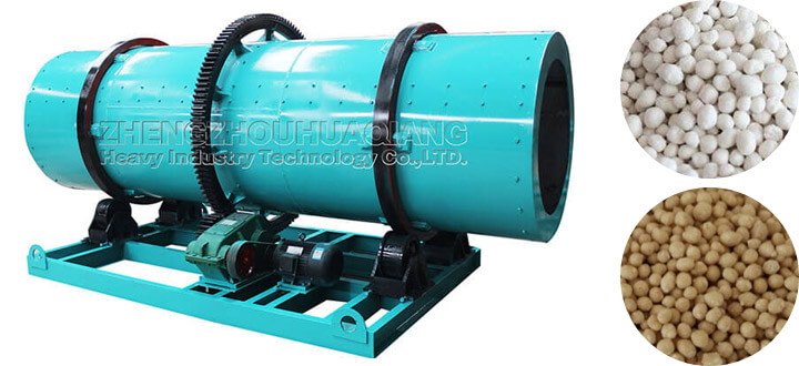 Production mode of rotary drum granulator