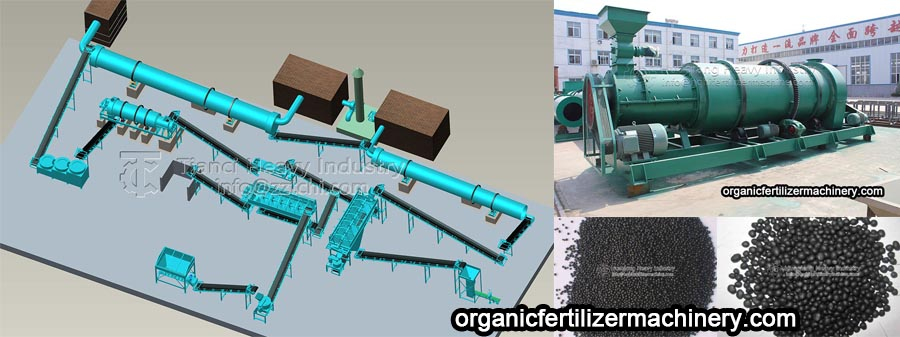 Production line of two in one organic fertilizer granulation for cow dung