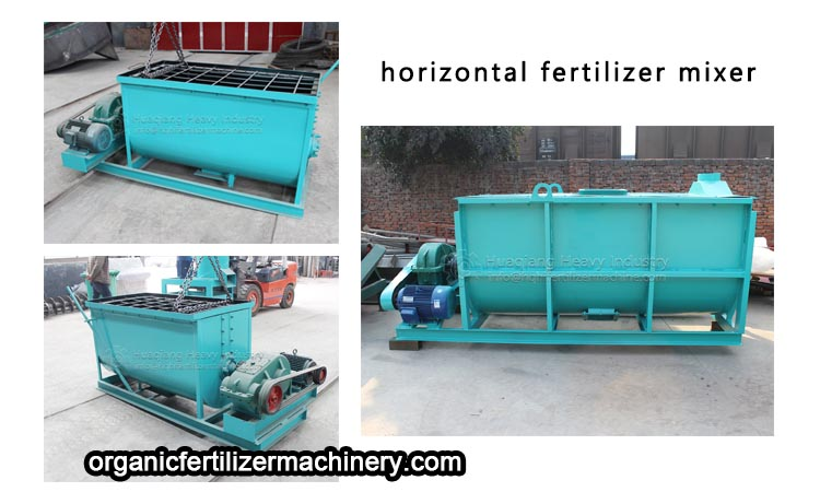 Functional characteristics of horizontal mixer for chicken manure organic fertilizer