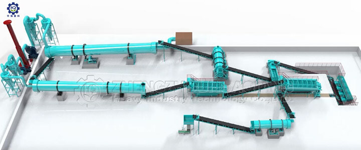 organic fertilizer combination granulation production line